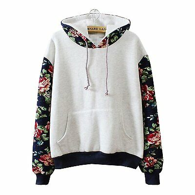Women Fashion Long Sleeve Hoodie Sweatshirt Sweater Casual Hooded Coat Pullover