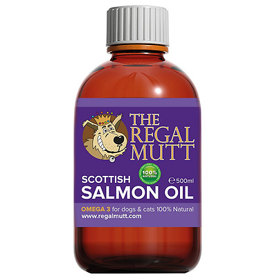 Salmon Fish Oil for Dogs Cats 100% Natural Nutrition Coat, Joint & Brain Health