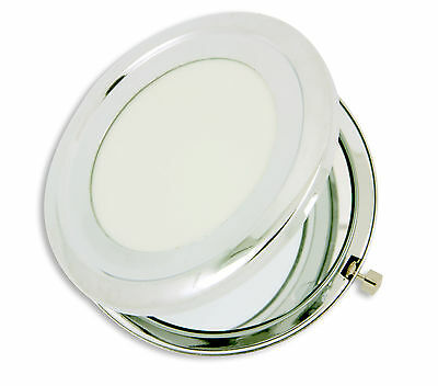 Quality Silver Metal Mirror Blank Compact - DIY Craft, Decoden, Accessories