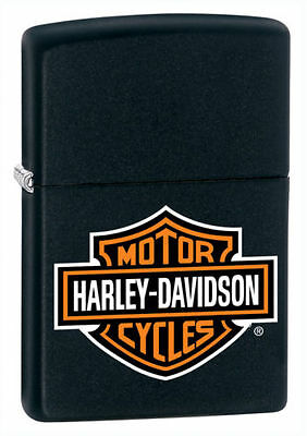 Zippo 218HD.H252, Harley Davidson-Logo, Black Matte Finish Lighter, Full Size