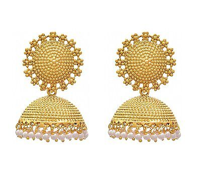 Ethnic Bollywood Style Gold Plated Jhumka Jhumki Pearl Jewelry Indian Earring