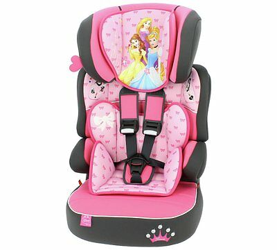 Disney PRINCESS Pink Beline SP LUXE 3 Stage Car Seat and Booster