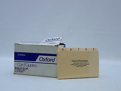 OXFORD 3X5 Card Guides A-Z index filing Office supplies B2535 BUF Esselte