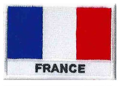 Ecusson patch patche drapeau France Français 70 x 45 mm brodé à coudre