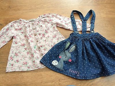 100% Next Girls Small  Bundle/outfit 2-3Yrs Blouse Pinafore  *i,ll Combine*