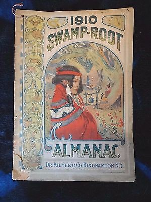 1910 Swamp-Root Almanac !!! Cover in color, good condition for framing!