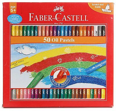 Faber-castell Oil Pastels Set of 50 color pencil free shipping.