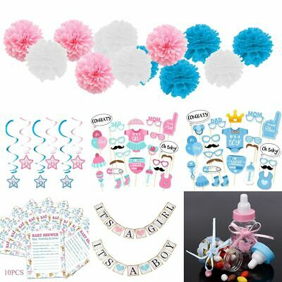 Baby Shower Decor Favours Boy Girl Balloon Games Banner Photo Prop Gift Supplies