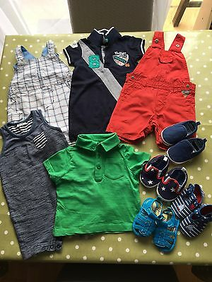 Small Bundle Of Baby Boy Summer Clothes 3-6 months