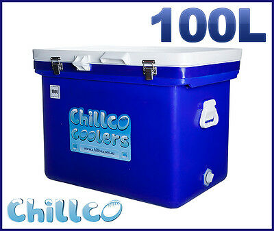 100L Chillco Ice Box Cooler Chilly Bin Ice Chest Superior Ice Retention-Rrp $450