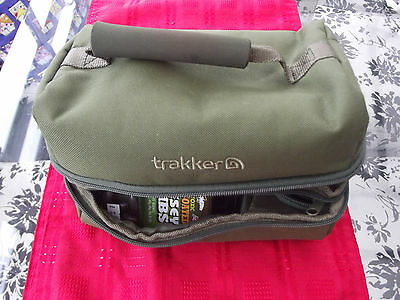 trakker carp fishing bag with weights and accessories