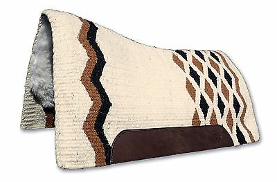 Cream Kids Contoured Western Thick Padded Horse Saddle Blanket Pad