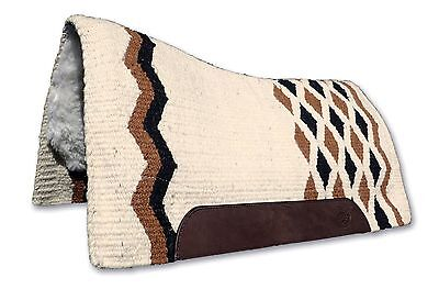Cream Small Contoured Western Thick Padded Horse Saddle Blanket Pad