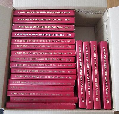 20 Vintage Red Books  of US Coins  Hard Cover  @ A Village Coin Bullion  3/19b