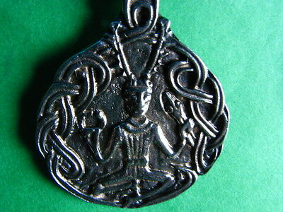 Celtic CERNUNNOS God Pewter Pendant Necklace Wicca Pagan Lord of the Woods