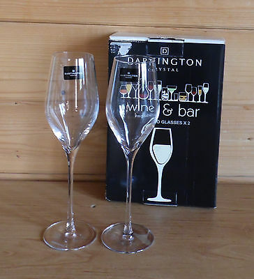2 X Prosecco Glasses by Dartington Crystal - Unused