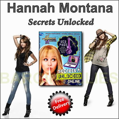 "Collectable Disneys Hannah Montana ""Secrets Unlocked Web Pass "" HB Book 2009."