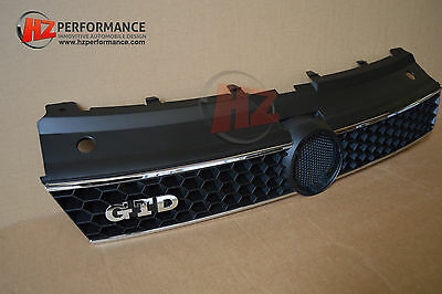 Vw Polo 6R 2010 Gtd Type Front Bumper Grill Grille Black | Uk Stock |