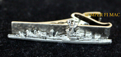 USS Fletcher CLASS DD-445 TIE BAR US NAVY DESTROYER VETERAN PIN UP GIFT WOW