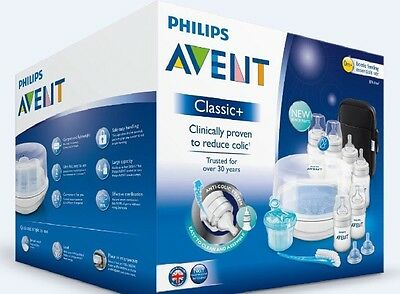 NEW Philips Avent Classic+ Baby Bottle Feeding Essential Set SCD383 Steriliser