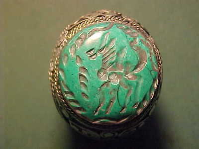 Near Eastern hand crafted intaglio ring malachite stone (horse)1700-1900