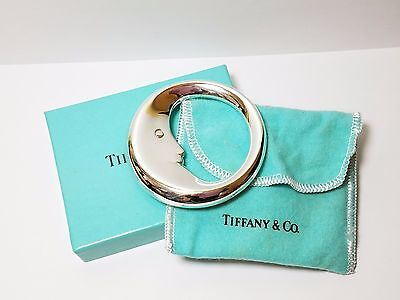 Tiffany & Co. Sterling Silver Man In The Moon Baby Rattle Teething Ring