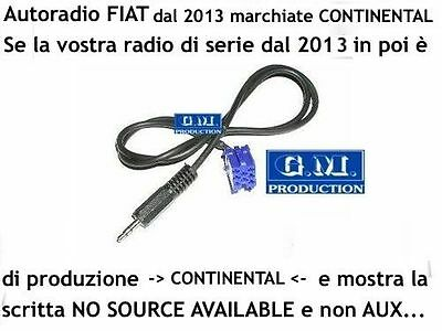 Cavo Aux Fiat Punto EVO [NO SOURCE AVAILABLE] solo autoradio di Delphi Grundig