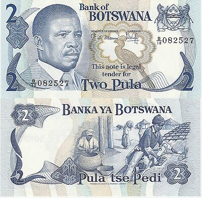 Botswana 2 Pula Banknote (1982) Uncirculated Condition Cat#7-B-2527