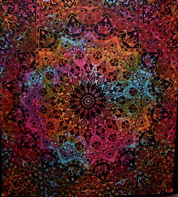 Indian-hippie Bohemian-psychedelic-elephant Star-mandala Wall-hanging-tapestry-t