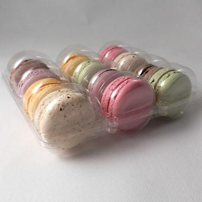 Clear macaroon / macaron plastic trays for 12 macaroons