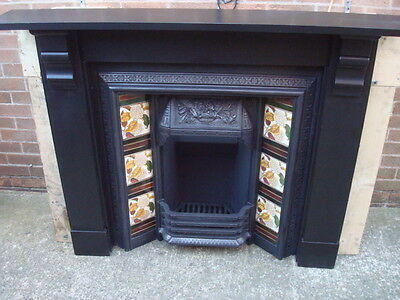 victorian original slate fireplace