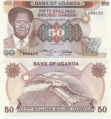 Uganda 50 Shillings Banknote 1985 Uncirculated Condition Cat#20
