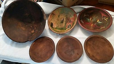 Vintage Antique Munising, Marquette and Unmarked Wooden Bowls