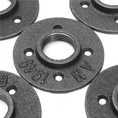 10pcs 1 Inch Floor Flange Malleable Threaded Iron Pipe Fittings Wall Mounted USA
