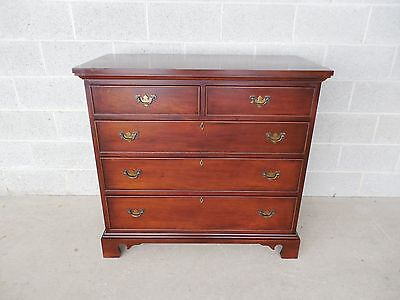 "CRAFTIQUE Chippendale Style Mahogany 5 Drawer Chest 39.5""W"