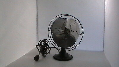 Antique Ge Electric Fan - Oscillating Desk Fan - 3 Blade