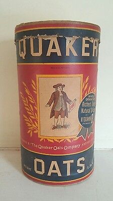 Vintage Quaker Oats Cardboard Container Empty Opened Antique Novelty Collectible