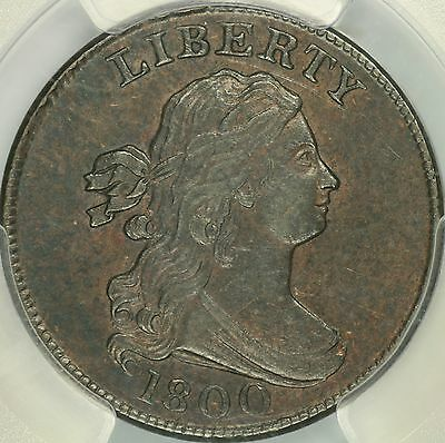 1800 Draped Bust Half Cent PCGS AU55
