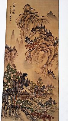 Chinese Painting on silk Landscape with Mountain