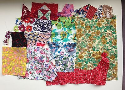 Lot of Antique Vintage Cotton Fabrics Rose Floral Sewing Crafts Quilting
