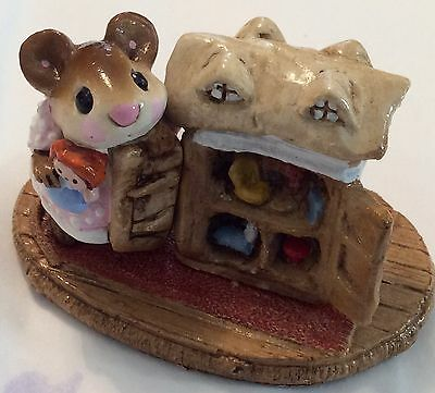 "Wee Forest Folk 1983 ""Mousey's Dollhouse"" M-102 Signed WP Retired 1985 Rare"