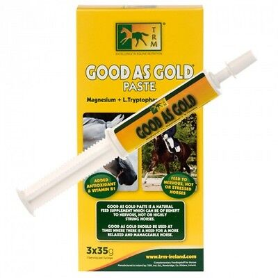 TRM Good As Gold Calming Paste for Horses (3 x 35g Syringe) Calmer Fast Delivery