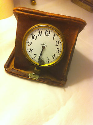 Brevet 33236  Antique Vintage Old Watch Travel Clock plus case (parts or repair)