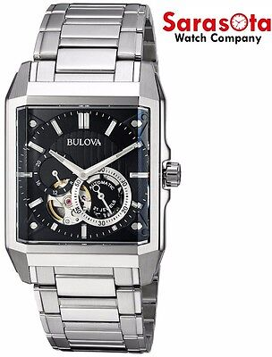 Bulova 96A194 Black Skeleton Dial Stainless Steel Automatic Men's Watch