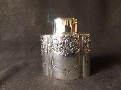 Antique Sterling Silver Tea Caddy Hallmarked 1902/3 By Atkin Brothers