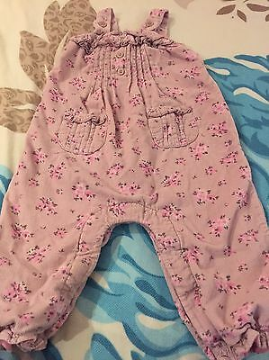 Next 9-12 Baby Girl Dungarees Floral