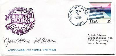 1988 South Pole Station Research Program Aerogramme Polar Antarctic Cover