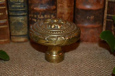 Antique French Gilt Brass Heavy Door Knob Ornate Hardware