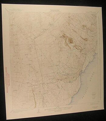 Honuapo Hawaii Kaunamano Homestead Lava Flows 1943 antique color lithograph map