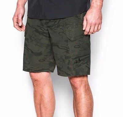 New Under Armour Mens Fish Hunter Cargo Shorts 1244207-330 Green